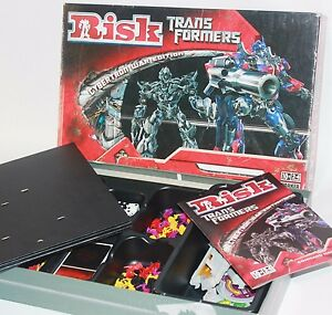 ✨ TRANSFORMERS RISK BOARD GAME ~ OPTIMUS PRIME PARKER BROTHERS ROBOT BOT TOYS ✨