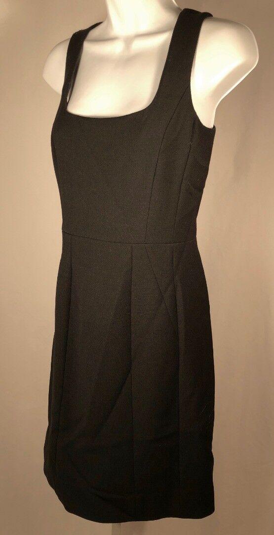 TORY BURCH schwarz Wool Blend Back Zip Sleeveless Dress Sz 4