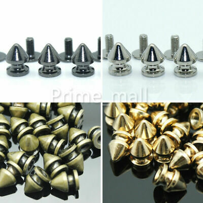 100pcs Brass Claw Rivets Round Punk Prong Studs Clothing Leather Craft Bag Decor