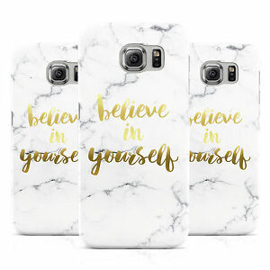BELIEVE-IN-YOURSELF-GOLD-MARBLE-CASE-COVER-FOR-SAMSUNG-GALAXY-MOBILE-PHONES