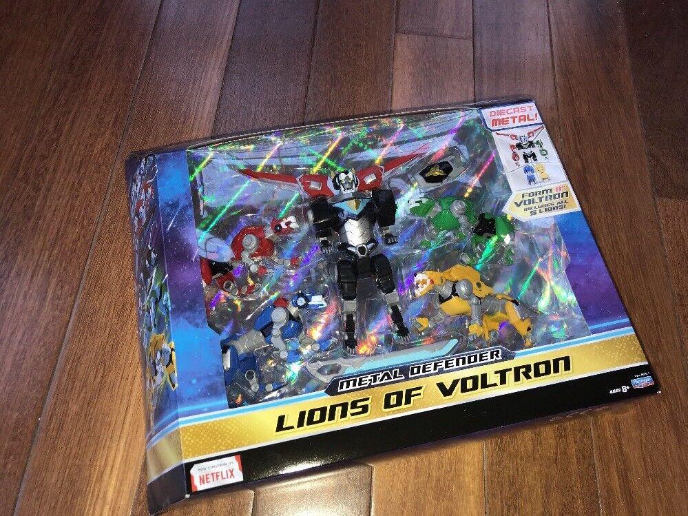 Playmates 100% Authentic Voltron Set  of 5 Diecast Metal Lions 8  Voltron SEALED  liquidazione
