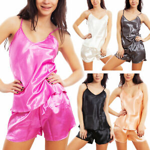 Completino intimo donna RASO canottiera pantaloncini pigiama TOOCOOL BE-Z160