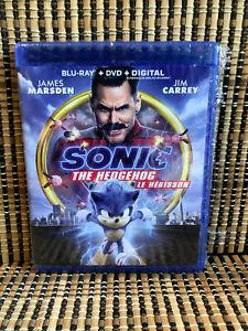Sonic The Hedgehog The Movie 2 Disc Blu Ray Dvd 2020 Jim Carrey James Marston Ebay