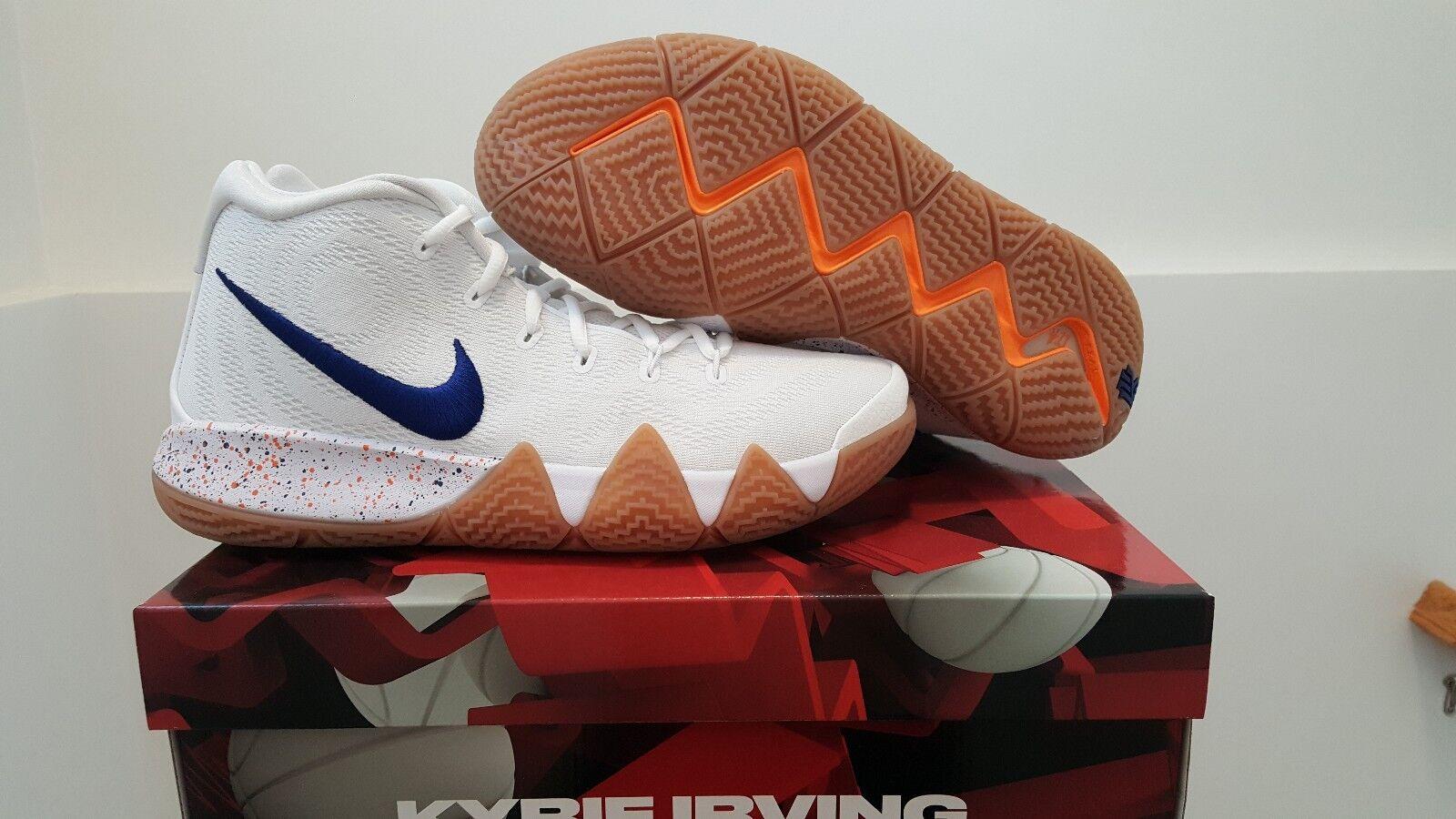 Nike kyrie 4 zio drew uomo numero 9, di nuovo con scatola bianca, profondo royal, gomma