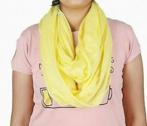 Organique Women's Scarf Yellow One Size Grid-Print Fringe-Trim solid $34 715
