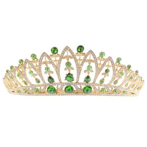 17 cm Hochzeit Braut Strass Krone Tiara Durchmesser: ca 5 Farbe