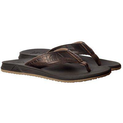 Mens Reef Phantom Le Ultimate Flat Flip Flops Brown / Dark Brown New Size