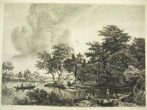 Engraving-c1874-La-River-after-Hobbema-Writer-Communications-Flameng