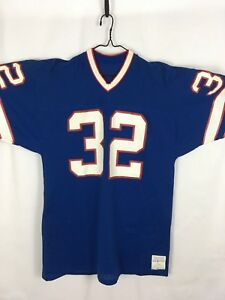low priced 18057 073fb Details about RARE O.J. SIMPSON Team Issued Medalist Sand Knit BUFFALO  BILLS Jersey #32 NFL