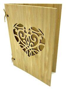 Bambuskarte mit Herz beschreibbar handgefertigt Grußkarte aus Holz by pamindo