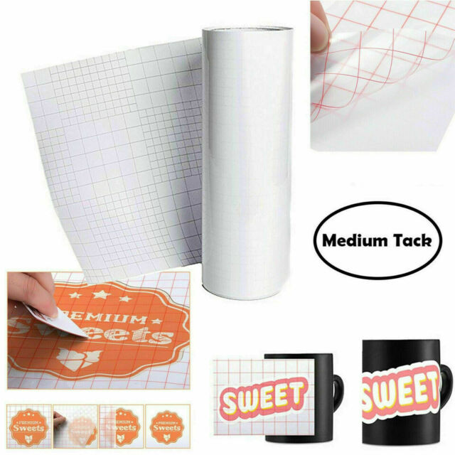 "Transfer Paper Vinyl Tape Roll Premium Clear Professional Adhesive Decals 12""x30"