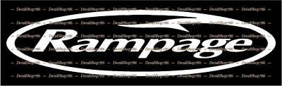 Rampage Yachts Vinyl Die-Cut Peel N/' Stick Decals//Stickers Outdoor Sports