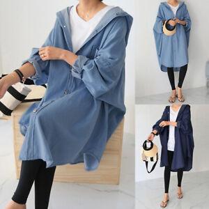 ZANZEA-Womens-Batwing-Sleeve-Baggy-Blue-Denim-Hooded-Outwear-Cardigans-Oversized