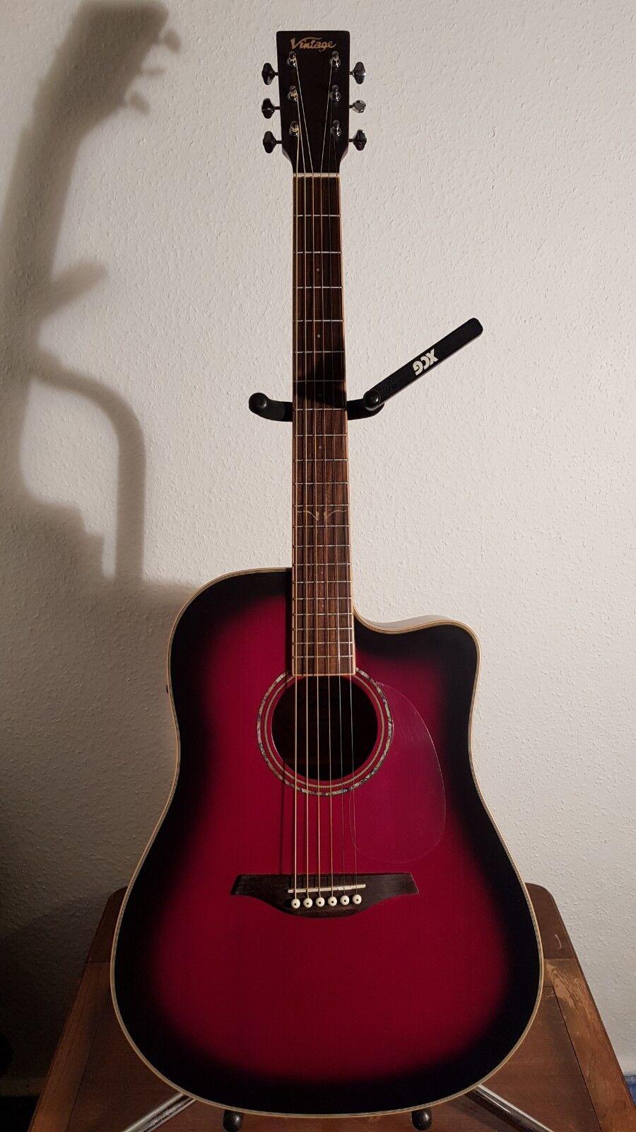 Vintage VEC501BGB Electro Acoustic 'Cutaway' CU TV EC 50