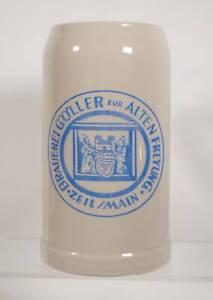 Raritat Alter Stein Bier Krug Brauerei Goller Zur Alten Freyung Zeil Main 1 L Ebay