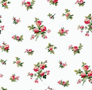 Casa De Muñecas Wallpaper 1//12th 1//24th Escala Floral Rosa De Papel De Calidad # 112