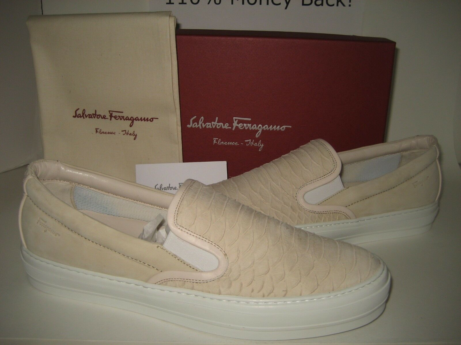 NEW Salvatore Ferragamo Women US 9.5 Pacau Suede Leather Sneakers shoes BOX