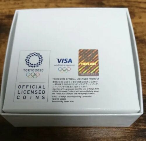 Japan 2020 Olympic Games Tokyo 1000 Yen Silver Badminton Proof Coin