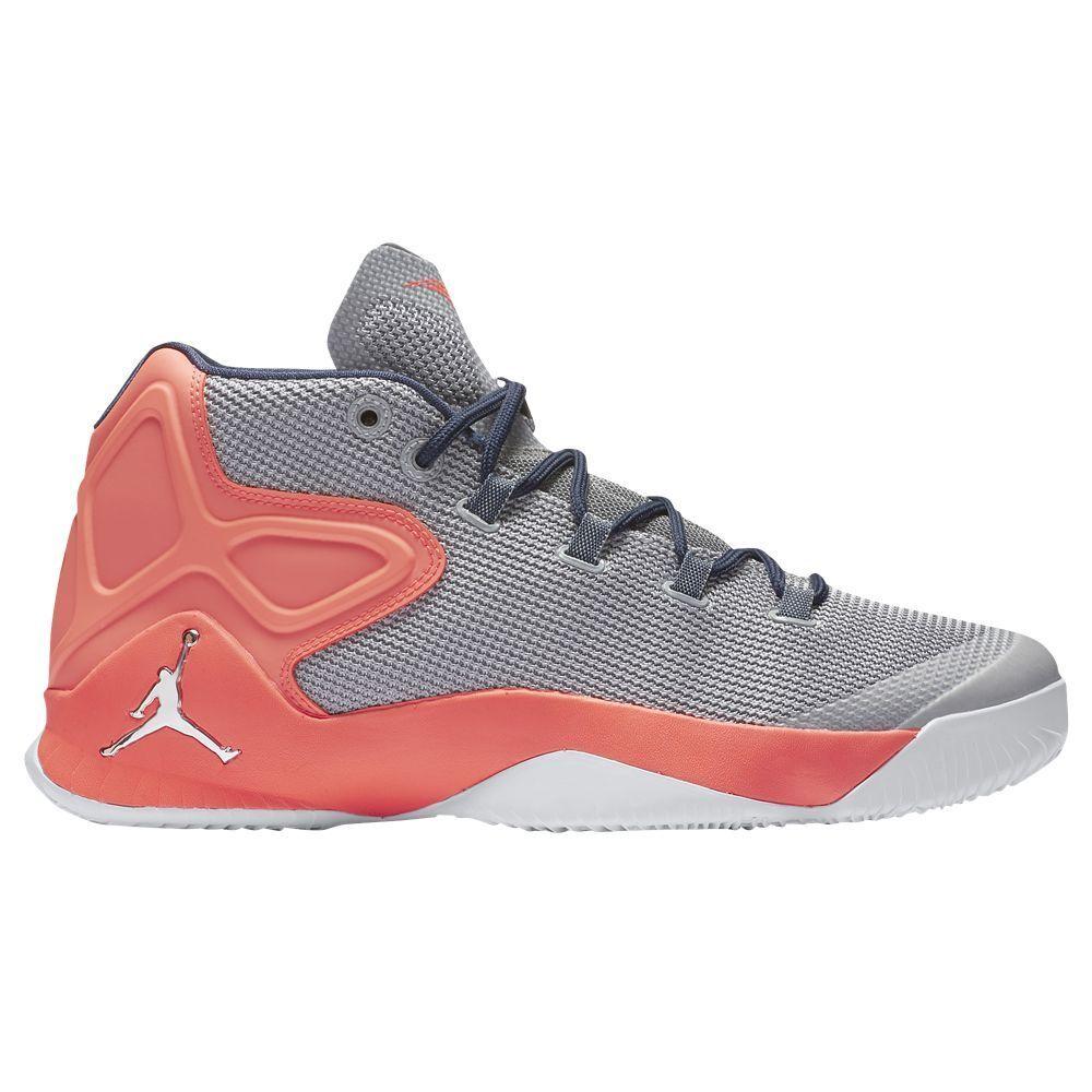 Men's Air Jordan Melo M12 Wolf Grey/Silver-Hyper Orange NIB 827176-008