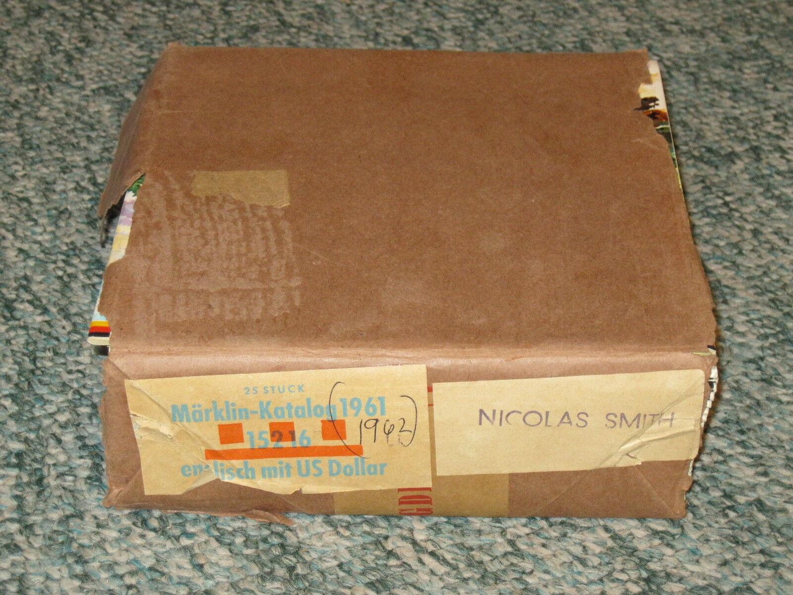 1 caso de 25 nuevo 1961 62 Marklin Catálogos En Inglés