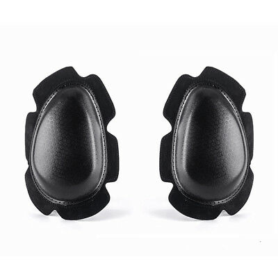 Motorcycle Body Armour Protective  Kneepads Knee Pucks Sliders Pads White