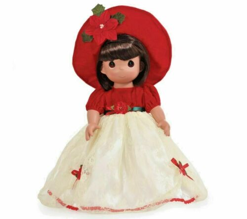 "Precious Moments 16/"" Christmas Doll BRUNETTE The Most Wonderful Time of The Year"