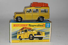 MATCHBOX SUPERFAST #12 LAND ROVER SAFARI, METALLIC GOLD, EXCELLENT, BOXED