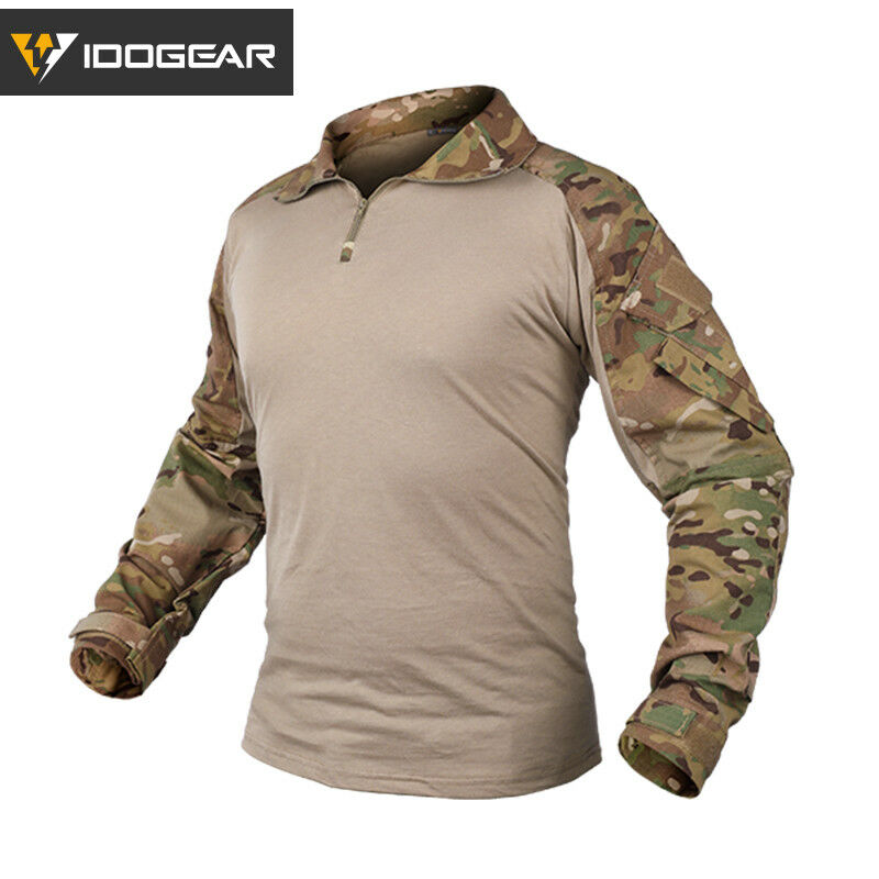 IDOGEAR G3 Combat Shirt w   Elbow Pad Military Airsoft Tactical Clothing MultiCam  welcome to order