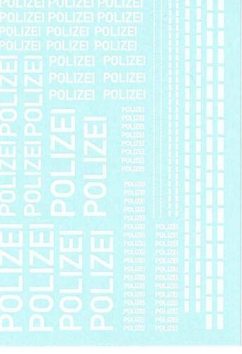 Polizei 400  1:50 Aufkleber --Nassschiebebilder- 140x90 mm