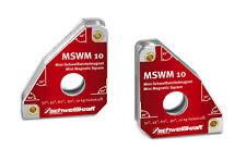 2 Stueck SCHWEIßKRAFT MSWM 10 Schweißwinkelmagnet Metallwinkelspanner
