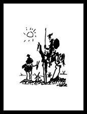 Pablo Picasso Don Quichote Poster Bild Kunstdruck im Alu Rahmen schwarz 80x60cm