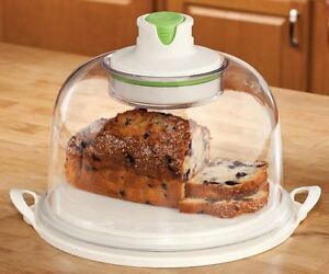 Vacuum Cake Dome Storage Container Bakery Dome Breads Fruits