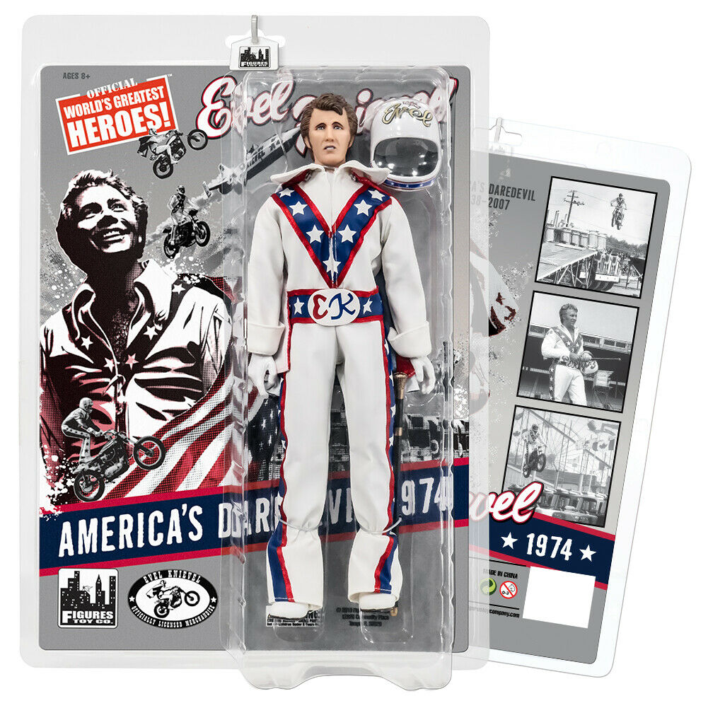 Evel Knievel 12 12 12 Inch Action Figures Series 1 Re-Issue  bianca Jumpsuit 7d447a