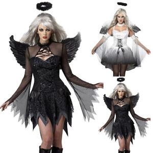 Dark Angel Wig Punk Goth Anime Rave Vampire Dress Up Halloween Costume Accessory