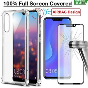 Huawei-P30-Pro-Mate-20-Pro-Lite-P20-Case-Cover-Tempered-Glass-Screen-Protector