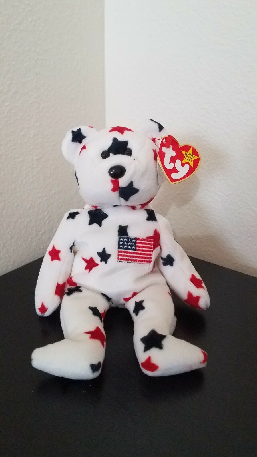 TY Beanie Babies  GLORY  the the the USA PATRIOTIC TEDDY BEAR. GREAT condition  95e5d2