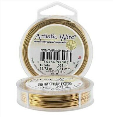 Artistic Wire 32-Gauge Non-Tarnish Brass Wire 30-Yards