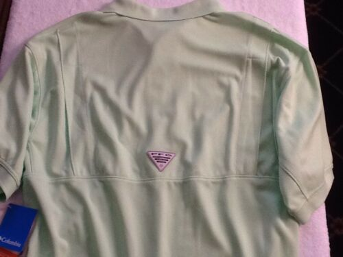 Light Green Nice! Details about  /Mens Columbia Omni Shade Polo Shirt Size Medium