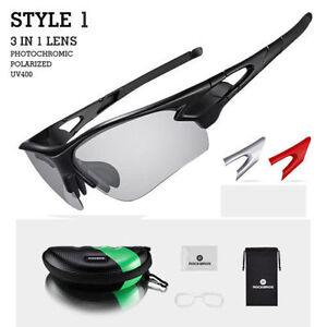 424c843163e Image is loading RockBros-Photochromic-Glasses-Sunglasses-Polarized-Lens- Sports-Goggles