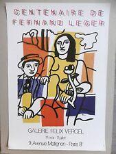Fernand LEGER Affiche originale 81 Centenaire Centenary Argentan Couple Fleur