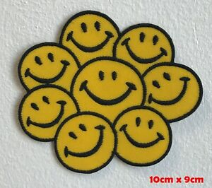Happy-Visage-Smiley-Rainbow-Emoji-Brode-Repasser-Patch-a-Coudre-1548