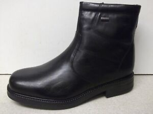 Details zu Men's Gallus Gallu Tex Black Leather Waterproof Boots UK 10 EUR 44
