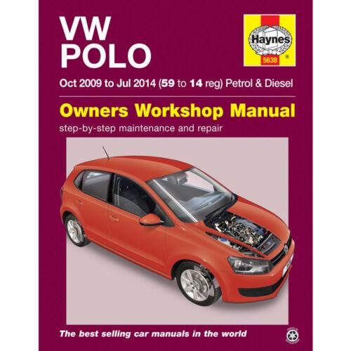 5638 Haynes Manual VW Polo 1.2 1.4 Petrol 1.2 1.6 Diesel 2009-2014 Workshop Ma