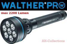 WALTHER PRO XL7000r LED Taschenlampe Stablampe 2200 Lumen inkl. Akku + Netzteil