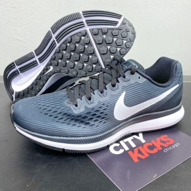 Reacondicionamiento Dirigir casamentero  Nike Air Zoom Pegasus 34 Black Textile Gym Trainers 880555-001 Mens UK 9  EUR 44 for sale online   eBay