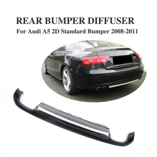 Black PU Rear Bumper Diffuser Spoiler Lip Fit for Audi A5 Coupe 2-Door 2008-2011
