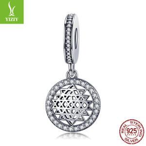 New-925-Sterling-Silver-Charm-Pendant-Floating-Mind-Bead-For-Women-Bracelet-Gift