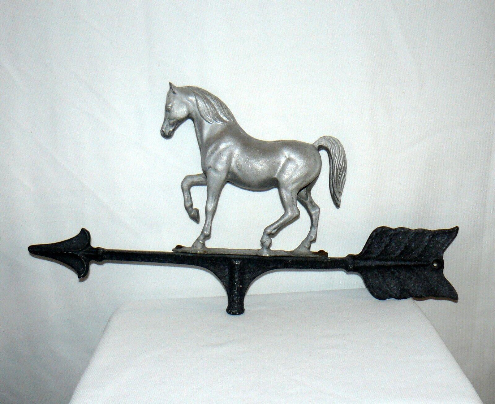 Weathervane Cast Metal Horse Theme