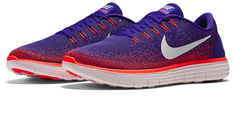 Nike Free RN Distance Men's Running Shoe Wolf Grey/Atomic Orange,Hyper Grape/Total Crimson,Hyper Orange/Black/Volt/Blue L...