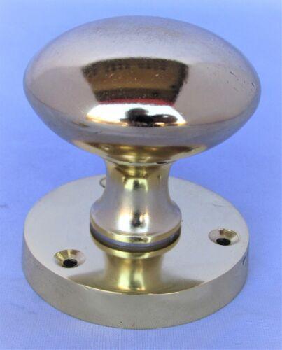 Brass Finish Internal Door Knobs on Round Rose Mortice Interior Door Handles D19